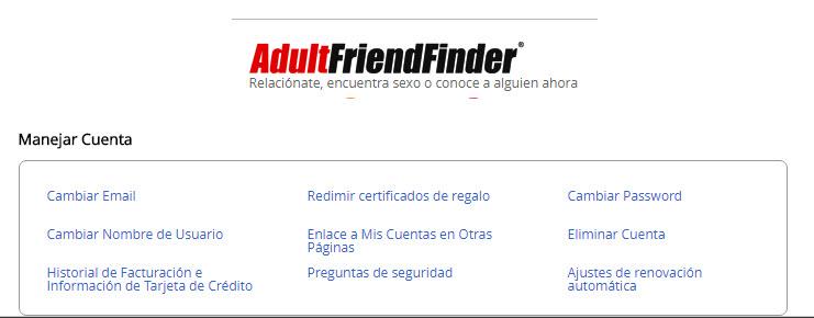 adultfriendfinder darse de baja